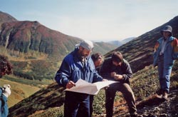 Reading maps in Kamchatka